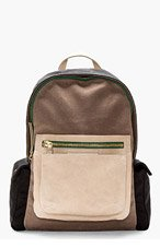 MARC BY MARC JACOBS Brown & Black 2-POCK & BIGGIE BACKPACK for men