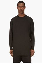 RICK OWENS Black Oversize Raglan T-Shirt for men