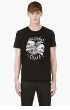 ALEXANDER MCQUEEN Black & Grey Skull print t-shirt for men