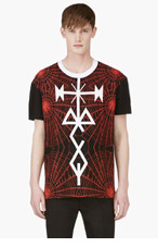 MCQ ALEXANDER MCQUEEN Black & Red Graphic Print T-Shirt for men