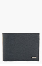 DOLCE & GABBANA Navy & Red Pebbled Leather BIFOLD WALLET for men