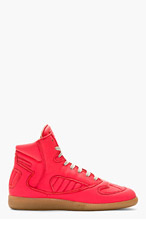 MAISON MARTIN MARGIELA Coral Leather High-TOP SNEAKERS for men