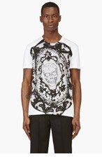 ALEXANDER MCQUEEN White Lace Skull T-shirt for men
