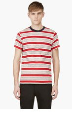 LEVI'S VINTAGE CLOTHING Red Striped 1960's T-Shirt for men