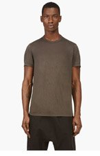 RICK OWENS Charcoal grey Draping t-shirt for men