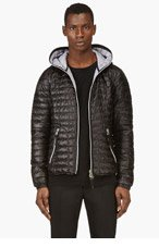 DUVETICA Black Hooded Acelo Jacket for men