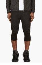 Y-3 Black Cropped Harem Cargo Pants for men