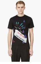 RAF SIMONS Black 'Boom Boom' T-Shirt for men