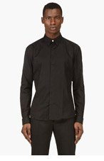 VERSUS Black Tonal Geo Print Shirt for men
