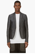 RICK OWENS Grey Linen Blend Summer Blazer for men