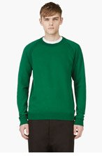 MAISON MARTIN MARGIELA Green Crewneck Sweater for men
