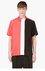 KENZO Red & Black coiorblocked shirt for men