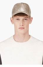 ACNE STUDIOS Silver Tinsel Silk-Blend Baseball Cap for men