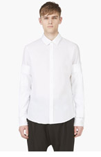 MAISON MARTIN MARGIELA White Double Sleeve Shirt for men