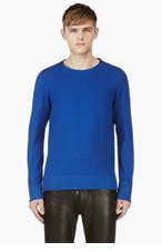 MAISON MARTIN MARGIELA Cobalt Blue Crewneck Sweater for men