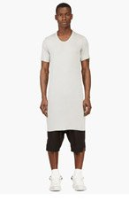 RICK OWENS Grey Overlong Jersey T-Shirt for men
