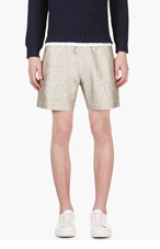 RICHARD NICOLL Grey Python Jacquard Shorts for men