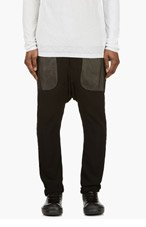 RICK OWENS Black SEE-THROUGH Sarouel Lounge pants for men