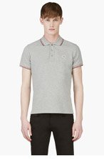 MONCLER Grey Classic Polo for men