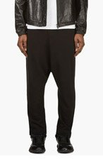 Y-3 Black Cotton Sarouel Pants for men