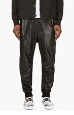 Y-3 Black Glossy Sarouel Cargo Pants for men