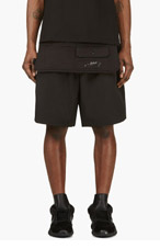 Y-3 Black Cargo Apron shorts for men