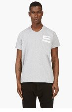 Y-3 Heather Grey Track t-shirt for men