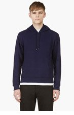 MAISON MARTIN MARGIELA Indigo Bonded HOODIE for men