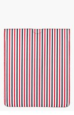THOM BROWNE Red & White Striped Tablet Sleeve for men