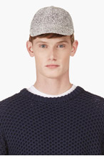 RICHARD NICOLL White & Silver Jacquard Baseball Cap for men