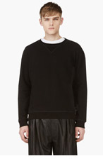 MAISON MARTIN MARGIELA Black Elbow Patch Sweatshirt for men