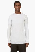 RICK OWENS Grey Layered Striped Sweater for men