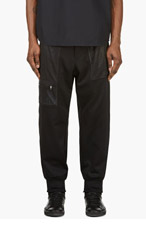 Y-3 BLACK Peek-a-boo Mesh LOUNGE PANTS for men