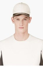 MARC JACOBS White Calfskin Baseball Cap for men