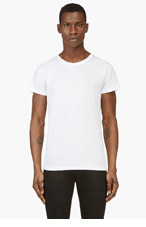 BALMAIN White, Grey & Black T-Shirt Three-Pack for men