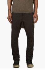 RICK OWENS Black Drawstring Sarouel Trousers for men