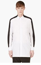 D.GNAK BY KANG.G White & Black Contrast Shirt for men
