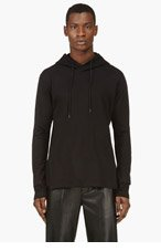 Y-3 Black Decal & Floating Panel Hoodie for men