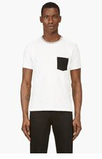 RAG & BONE Ivory COLORBLOCK POCKET T-shirt for men