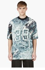 JUUN.J Green Marbled 39 printed Neoprene T-shirt for men