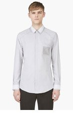 MAISON MARTIN MARGIELA Grey Bonded Hem Shirt for men