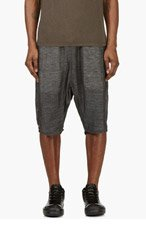 RICK OWENS Grey Sarouel Lounge Shorts for men