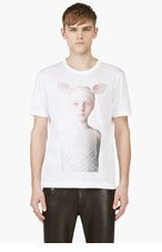 JUUN.J White Oleg Dou Graphic T-Shirt for men