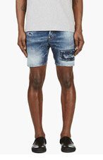 DSQUARED2 Blue Distressed Denim Shorts for men