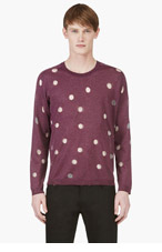 ACNE STUDIOS Purple Sheer POLKA DOT CREWNECK for men