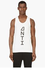 Y-3 WHITE LOGO TANK TOP for men