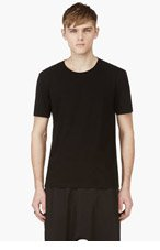 MAISON MARTIN MARGIELA Black Logo Back T-Shirt for men