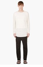 D.GNAK BY KANG.G White Layered Overlong T-Shirt for men