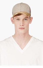 MARC JACOBS Ivory Floral Jacquard Baseball Cap for men