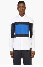 KENZO White Colorblock Shirt for men